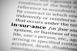 dictionary page for word insurance